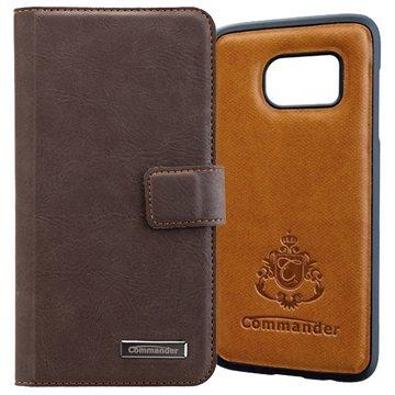 Samsung Galaxy S7 Edge Commander Book %26 Cover Tasche - Vintage Braun