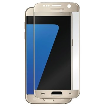 Samsung Galaxy S7 Panzer Full-Fit Tempered Glass Displayschutz - Gold