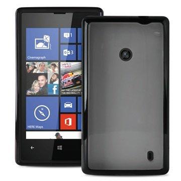 Nokia Lumia 520, Lumia 525 Puro Clear Silikonhülle - Schwarz