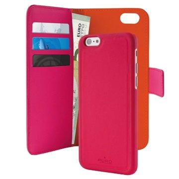 iPhone 6 / 6S Puro Magnetisches Geldbörse Tasche - Hot Pink