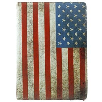MTP Products iPad Air 2 Rotierende Smart Hülle - Vintage Amerikanische Flagge