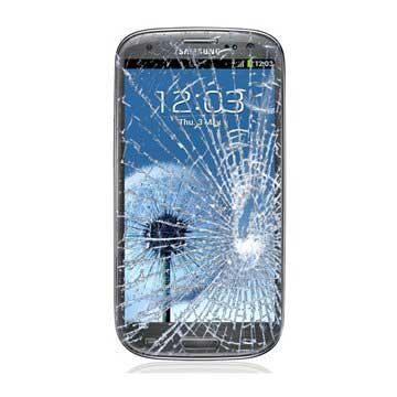 Samsung Galaxy S3 i9300, I9305 LTE Displayglas Reparatur - Schwarz