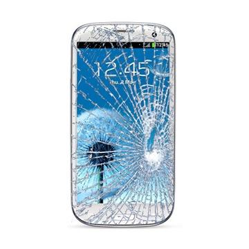 Samsung Galaxy S3 i9300, I9305 LTE Displayglas Reparatur - Weiss