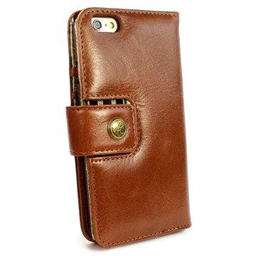 Alston Craig iPhone 6 / 6S Alston Craig Vintage Genuine Geldbörse Leder Tasche - Braun