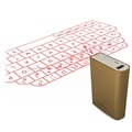3 in 1 Bluetooth-Laser-Tastatur & Maus / Power Bank F3 - Gold