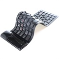 Roll-Up Bluetooth Tastatur - Schwarz