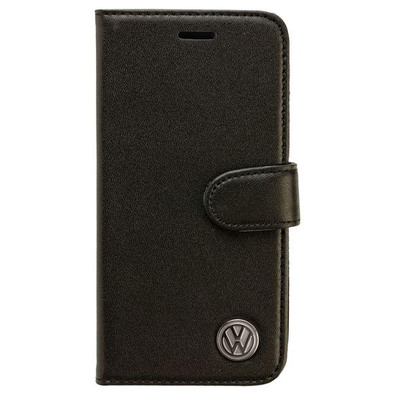 iPhone 6 / 6S Volkswagen Book Leder Tasche - Schwarz
