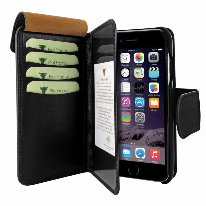 iphone 7 iphone 8 piel frama walletmagnum leder case. Black Bedroom Furniture Sets. Home Design Ideas